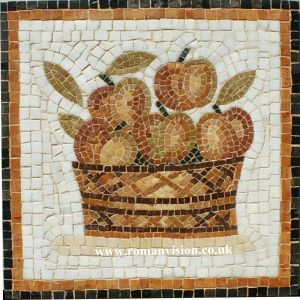 BASKET OF APPLES MOSAIC