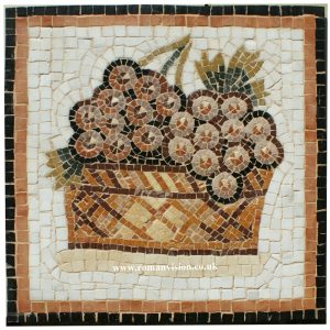 Mosaics Wall Hangings – BASKET OF GRAPES MOSAIC