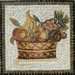 BASKET OF MIXED FRUITS MOSAIC