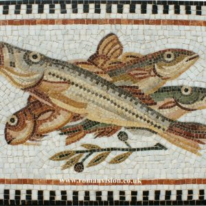 FISH AND OLIVE BRANCH MOSAIC