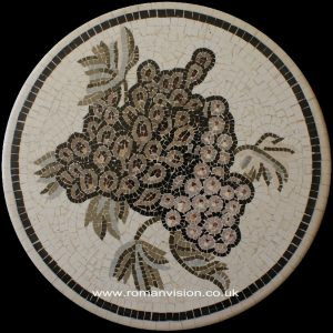 GRAPES FROM THE GRAPEVINE MARBLE MOSAIC