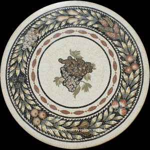 ROMAN FRUITS MARBLE MOSAIC