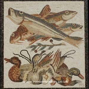 FISH AND DUCKS MOSAIC