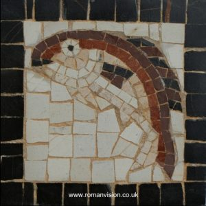 BROWN FISH MOSAIC COASTER