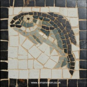 BLUE FISH MOSAIC COASTER