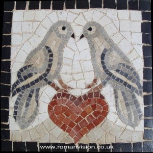 DOVES OF LOVE MOSAIC