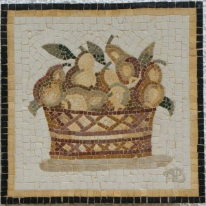 BASKET OF PEARS MOSAIC