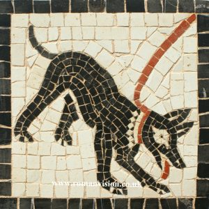 ROMAN DOG MOSAIC TILES